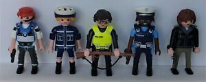 Playmobil City   5 x Assorted Police Officers  Fire/Police  Good Condition