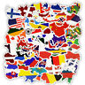 50Pcs National Flags Stickers Countries Map Travel Stickers Suitcase Laptop DIY