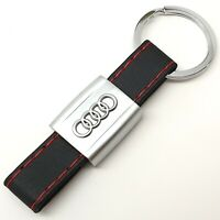 AUDI Leather Keyring Key Ring Chain Fob With Gift Box