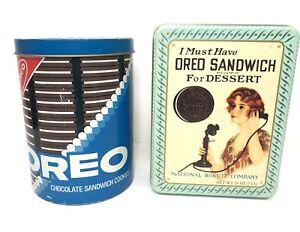 Nabisco Oreo Vintage Collectors Tins ( Lot of 2)