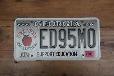 "American license plate Georgia ""Support Education"" # ED95MO"