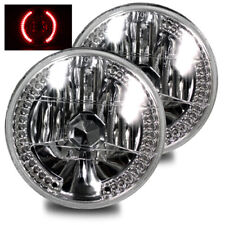 "Red Led Diamond Headlights H6014/H6015/H6024 7"" Round Semi-Sealed Diamond"
