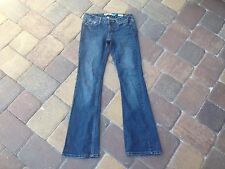 Aeropostale Kailey Skinny Flare Curvy Women's Ladies Blue Denim Jeans Size 0 Reg
