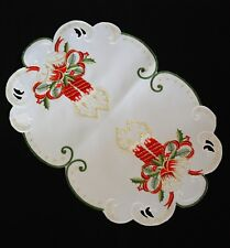 Christmas White Tablecloth Doily Napkin Placemats Table runners oval, round 40cm