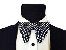 Mens FERUCCI Oversized Bow Tie - Black Silk Bowtie White Polka Dot, big bow tie
