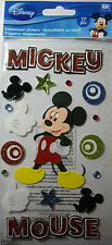 NEW 17 pc MICKEY FUN Mickey Mouse Glitter Hands Swirl 3D Stickers DISNEY JOLEE'S