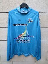 Maillot cycliste FFC CHAMPIONNE RHONE ALPES cycling shirt jersey XL