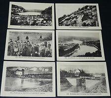 RARE 6 IMAGES PHOTOS ECOLE BON-POINTS 1930 NANTUA DOMBES RHONE LANCEY BRIARE