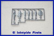 PLAYMOBIL - Peces Nuevos Pesca Marino Barco Pesquero Pirata Puerto Galeón Comida