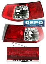 Fits 00-01 Toyota Camry RED CLEAR JDM Rear Tail Lights Pair NIB