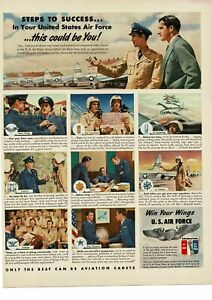 1950 U. S. AIR FORCE Recruiting Recruitment This Could Be You art Vintage Ad