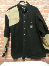 VTG *SMITH & WESSON* shooting style Denim button down shirt sz Lg~embroidered~