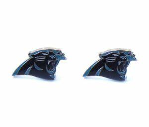 Carolina Panthers Football Team Logo NFL Silver Post Stud Earrings Set