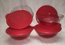 Tupperware - 4tlg-Set - Eleganzia - rot - 4 x 600 ml- Schälchen