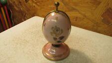 Vintage Goumet- Labesse Limoges Pink Porcelain Egg Perfume Holder