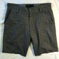 Mens Shorts Oakley Plaid 32 Grey Plaid