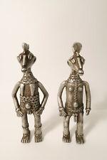 Paar Aluminium Figuren 22cm Afrikanischer Guß CI57 Pair Aluminium figures