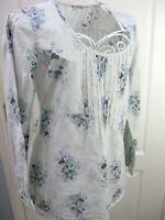 Mistral Floral 100% Cotton Tunic Top Size 12 Boho Summer Casual Floral Smock