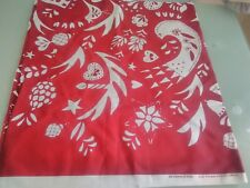 Ikea Vinter Red White Cotton Fabric Material 1 Metre Long x 150cm wide ( New )