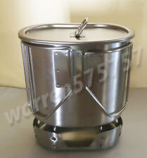 G.I.Style Stainless Steel Canteen Cup 700ML / Lid & STAINLESS STEEL Stove/Stand