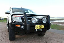 Razorback Steel Bull Bar with Fog Lights - Suit Toyota Hilux SR5 D/Cab 2011-2015