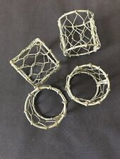 Farmhouse Napkin Rings Set of 4 - Chicken Wire - New