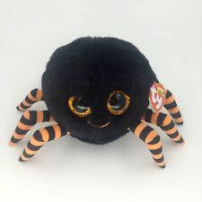 ".Ty Beanie Boos 6"" Crawly Black Orange Spider Stuffed Plush Toys Gift P"