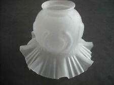 Lampenschirm Glas Glasschirm weiß Ersatz E27- K0447 - 16,3 cm, die Halterung