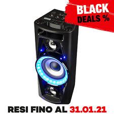 Cassa Bluetooth Speaker Wireless Altoparlante Portatile Microfono Karaoke USB