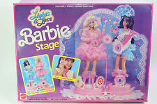VINTAGE BARBIE LIGHTS AND LACE STAGE PLAYSET WITH DIORAMA & JEWELRY 1991 MATTEL