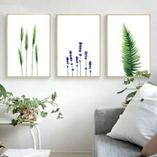 Watercolor Plants Leaves Flower Canvas Poster Prints Pictures for Living Room