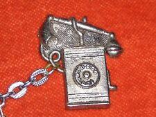 Porte-clé Keychain ancien téléphone vintage fixe ou mural ou pas 3 cm haut