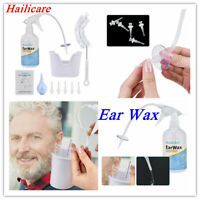Home Use Remover Ear Wax Cleaning Bottle + 5 Replace Tip Bulb Syringe Set