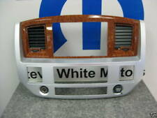 06-08 Dodge Ram Navigation Dash Radio Bezel Mopar Silver Wood Grain Genuine Oem