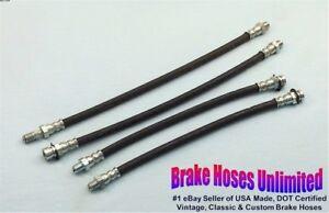 """BRAKE HOSE SET Plymouth Plaza 1956, with 16"""" Master cylinder hose"""