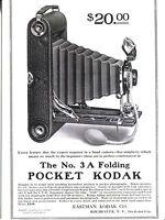 POST CARD OF A VINTAGE MAGAZINE ADVERTISEMENT FOR KODAK POCKET CAMERA FOR $20