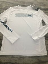NWT Boys UNDER ARMOUR Long Sleeve Shirt Size Large Nice Colors BACK TO SCHOOL!!
