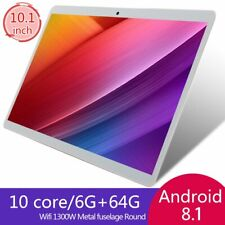 V10 Classic Tablet 10.1 Inch Android 8.10 Version Tablet 6G+64G White Tablet ND