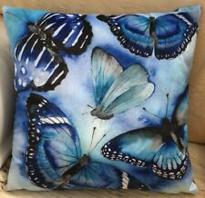 Blue Butterfly Theme FILLED Evans Lichfield Cushion Cover