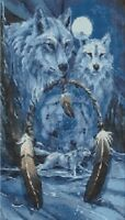 WOLVES AND THE DREAM-CATCHER # 1 - CROSS STITCH CHART