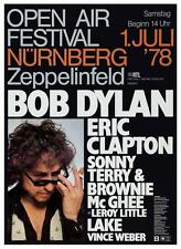 Bob Dylan & Eric Clapton - POSTER - LIVE in Germany 1978 - Sonny Terry