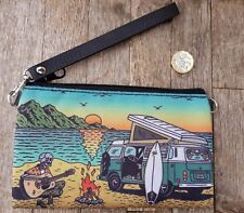 Skeleton in a Campervan Purse - Surf Sunset Island Holiday Clutch Bag