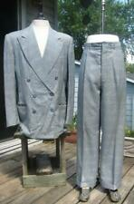 40S BRENT FINE TAILORING BLUE DOUBLE BREASTED SUIT 43 CHEST