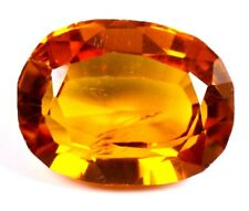 6.90 Ct Good looking Natural Yellow Sapphire Oval Loose Gemstone Certifed A1273