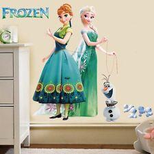 Cartoon Frozen 3d Princess Queen Elsa Anna Mural Wall Decal Removable Sticker