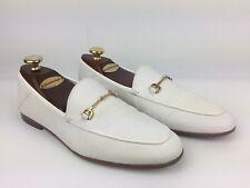 Sam Edelman Loraine Women Loafer Shoes Sz US10 EU40 White Gold Buckle