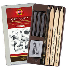 Koh-I-Noor Gioconda 8892 Professional Sketching Tin Set with Pencils & Graphite