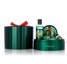 The Body Shop Glazed Apple Skin Care Gift Set Tin Limited Edition Ships Same Day