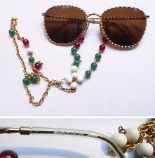 Moschino by Persol M256 occhiali da sole con catenella vintage sunglasses 1980s