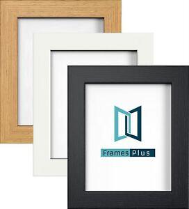 Photo Picture Frames Black White Oak Colour, Modern Range, All Sizes A1 A2 A3 A4